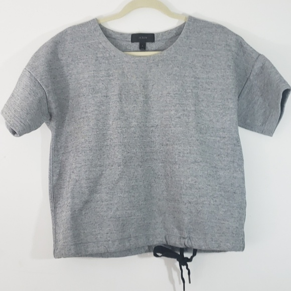 J. Crew Tops - Size 8 J. Crew Gray Short Sleeve Sweater Top